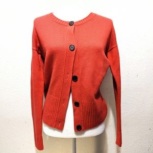 Loft chunky knit Coral cardigan sweater